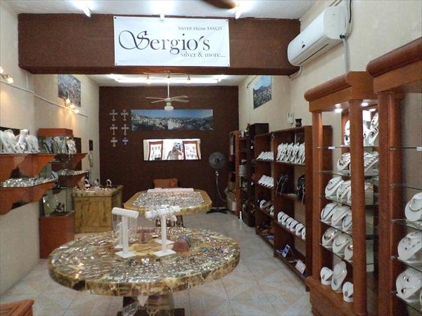 Sergio's silver shop.