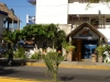 Blue Angel Dive shop and restaurant  between Downtown and Peutra Maya 1/2 way to town.